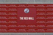 RED WALL PLAQUE
